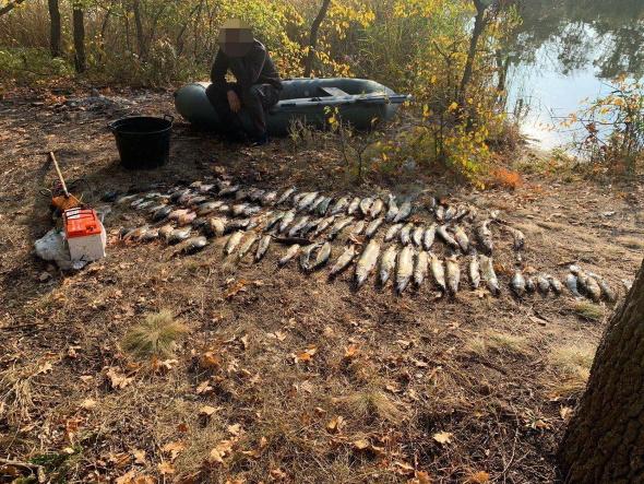 Затримано порушника, який добув 50 кг риби та завдав понад 18 тис. грн збитків – Дніпропетровський рибоохоронний патруль